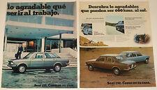 SEAT 132 2x Original 1970s AD ADS publicidad coche spanish Advert mini poster