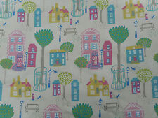 Sanderson Curtain Fabric 'Jubilee Square' 1 METRE Pink/Yellow - 100% Cotton