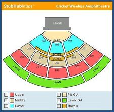 MUMFORD AND SONS 2 Tickets General Admission PIT Next to Stage CHULA VISTA, CA