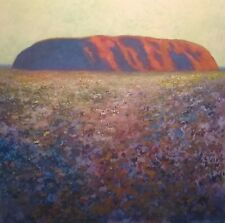 "NEW JOEL KIRK ""Ayers Rock"" Australia Outback Acrylic on Canvas Oz PAINTING"