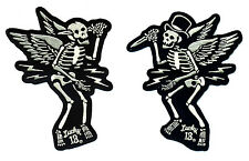 lucky 13 patch set pair Suicide Slasher Skeleton tattoo Hot Rod Motorcycle