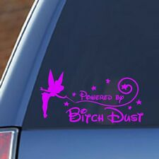 Tinkerbell - Powered By BITCH DUST - Vinyl decal sticker - Disney, Funny, Mom