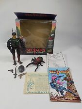 COMPLETE VINTAGE SECTAURS SKITO & TOXCID FIGURE SET COLECO 1984 W/ORIGINAL BOX