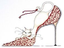 """Design Works Counted Cross Stitch kit 10"""" x 13"""" ~ LEOPARD SHOE Sale #2553"""