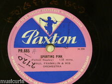 78rpm library music PAUL FRANKLIN sporting pink / racing notes PR 685