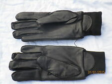 Gloves Mens Black Leather,MDP,MGS,2008,Gr. 8, MOD Police Handschuhe,Wachdienst