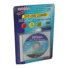 Omega CD VCD DVD Player LASER LENTE + LIQUIDO DETERGENTE Testa lo sporco pulitore KIT DI RIPRISTINO