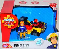 Fireman Sam Quad Bike + Sam Figure Push Along Toy New