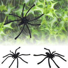 Funny Realistic Halloween Plastic Black Spider Joking Toys Decoration Prop JT12