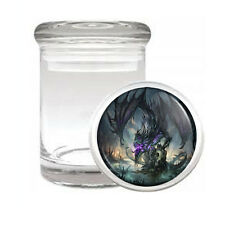 DRAGON D14 ODORLESS AIR TIGHT MEDICAL GLASS JAR CONTAINER MYTHOLOGY BEAST FIRE