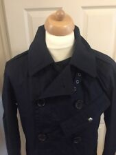 RALPH LAUREN NEW MENS AVIATOR NAVY BLUE FORMAL PEA COAT - SIZE SMALL RRP £495