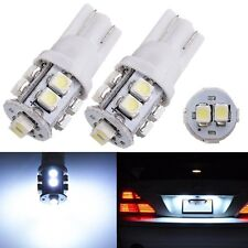 2x T10 3528 W5W 10 SMD 194 168 LED Side Light Bulb White Parking License Plate