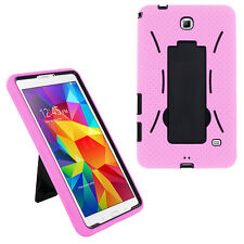 Pink Armor Hybrid Case Cover For Samsung Galaxy Tab 4 7.0 Nook SM-T230NU T237