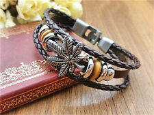 Fashion jewelry punk infinite charm bracelet cuff leather bracelet multilayer