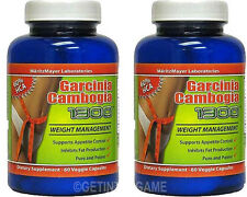 X 2  GARCINIA CAMBOGIA EXTRACT 1000mg POTASSIUM CALCIUM 60% HCA WEIGHT LOSS