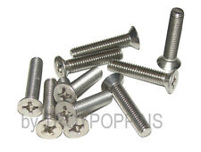 10-SS M6 X 30MM PFH PHILLIPS FLAT HEAD MACHINE SCREWS STAINLESS STEEL BOLTS 6MM