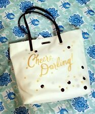 Brand New Kate Spade Tote Bag Cheers Darling Moon Stars Champagne Bubbly