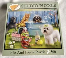 Bits & Pieces Jig Saw Puzzle Rub a Dub Doggie 500 Pieces New Sealed
