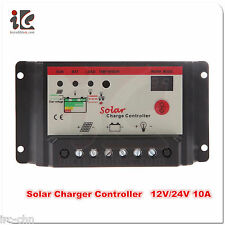 Solar Charge Controller 12V/24V 10A PWM Battery Regulator Light LED Time Control