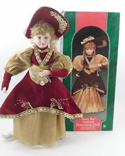 "Santa's Best Animated 28"" Motionette Porcelain Doll Victoria Victorian Christmas"