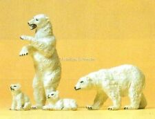 H0 Preiser 20384 Ours polaires. Figures d'animaux OVP