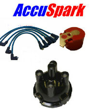 MGB 62-73 AccuSpark Green 8mm HT leads,Red Rotor arm,  cap for Lucas 25D