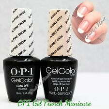 OPI GelColor Gel French Manicure Kit A Set GC L00 Alpine Snow+GC S86 Bubble Bath