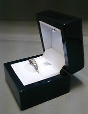 Real wood Ring Box with LED Light for Engagement Ring or Wedding Ring.