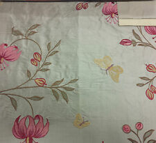 James Hare Wild Lily Embroidered Dupion in Muscatelle 100% Pure Silk 140cm Wide