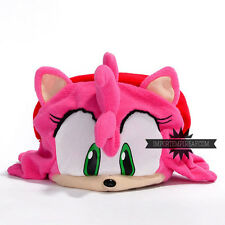 SONIC AMY ROSE CAPPELLO COSPLAY THE HEDGEHOG hat chapeau cap peluche berretto