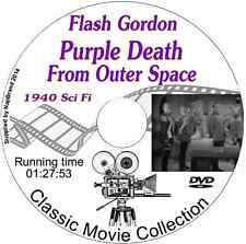 Purple Death from Outer Space, Flash Gordon - Buster Crabbe - Film on DVD 1940