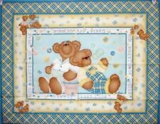 Baby Butterfly Kisses Teddy Bears Quilt Wall Hanging Panel Fabric cotton