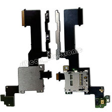 SD Memory Card Tray Holder Slot + Power Volume Button Flex Cable For HTC One M9