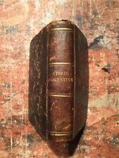 Niccolò Machiavelli: Storie fiorentine, volume unico, Napoli Rondinella 1870