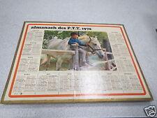 ALMANACH PTT calendrier des postes 1970 OBERTHUR ECUYERE CHEVAL *