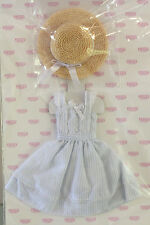 Azone 1/6 EX Cute Pure Neemo Doll Summer Dress and Hat Set Japan NEW Blue Stripe