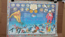 1980 LAKE PLACID PLANTER PEANUTS HISTORY OF THE WINTER GAMES VINTAGE POSTER