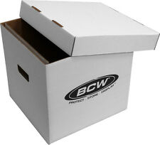 "(1)  BCW-33RPM-BOX 12"" Vinyl Record 65 Count White  LP Storage Box Case Holder"