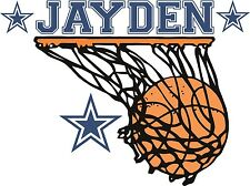 """Basketball Wall Decal,boys room,LARGE SIZE,26 """" x 28"""",wall decal,personalized"""