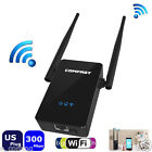 Wireless Repeater 300Mbps Network Router WiFi Signal Range Extender US Plug T2