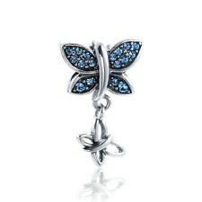 Silver charms  Butterfly Silver pendant Charm