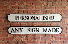 Vintage Personalised Wooden London Road Street Sign