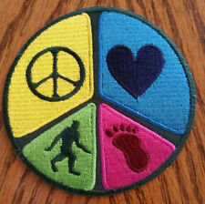 Peace, Love and Bigfoot Patch