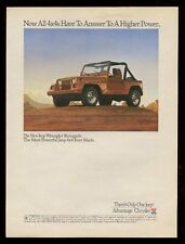 1991 Jeep Wrangler Renegade color photo vintage print ad