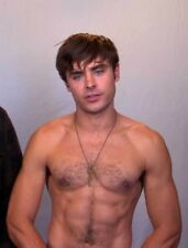 Hot zag efron sexy nude male Celebrity rare photo 7x5 BUY 2, GET 1 FREE