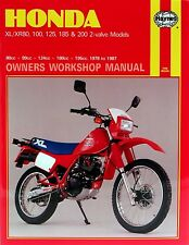 Haynes Repair Manual 0566-Honda xl100s, xl125s, Xl125r, xl185s, xl200r' 78-prudente