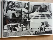 """12 By 18"""" Black & White Picture about 1963 Corvair Camper multi shot"""
