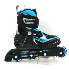 Roces Boys/Kids/Girls Inline Roller Skates/Inline Adjustable Blue/Silver US 4-7