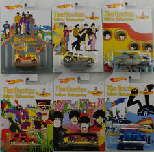 The Beatles yellow submarine Set 6 cars 1:64 Hot Wheels USA DML69-12