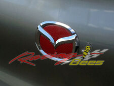 Red Carbon Fiber Trunk Emblem Insert for Mazda 3
